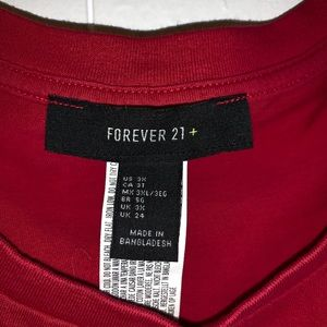 Forever 21 Tops - Forever 21 Red Tie Shirt